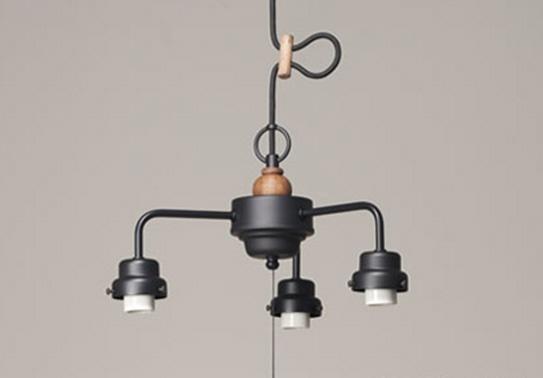 GLF 3灯用ビス止めCP型吊具 木製飾り付 黒塗装 GLF-0281BK