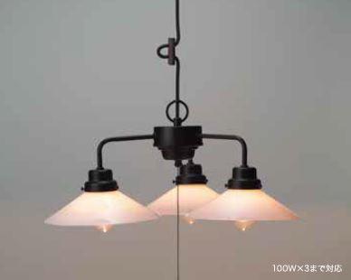 GLF ペンダント照明器具 P1硝子ロマン・3灯用 40W浪漫球付 GLF-3228W