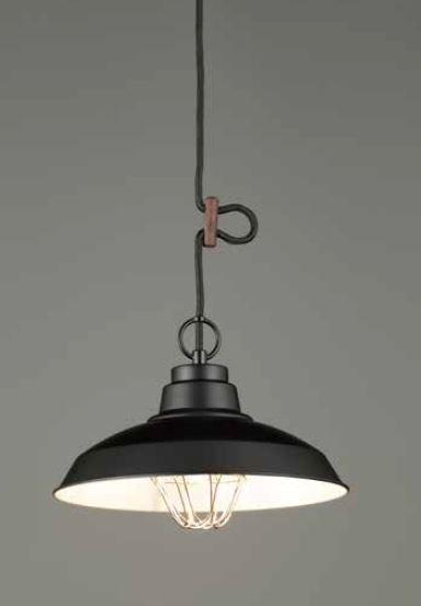 GLF ペンダント照明器具 〆付けガード アルミ配照セード 100Wクリア球付 GLF-3485BK