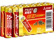 【送料無料!まとめ買い】三菱 アルカリ乾電池・単4 80本セット(16本入パック×5) LR03GD/16S 5P [一部配送地域は当社規定送料]
