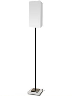 DI CLASSE フロアランプ Serie/white (セリエ/ホワイト) E-26 60W 白熱普通球(ホワイト)付LF4461WH