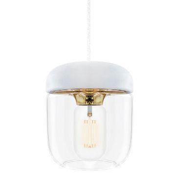 ウメイ エイコーン 1灯ペンダント ブラス コード/シリコン・ホワイト ペンダント照明器具 02105