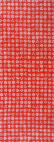 日本製 綿100%の手拭い 結婚祝い 生地が柔らかくごわごわしません 日本手ぬぐいだから柔らかい 江戸てん 国内在庫 手ぬぐい 赤 注染 綿100% 梨園染 歌舞伎紋ちらし