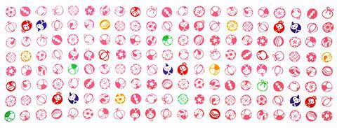 日本製 綿100%の手拭い 安い 激安 プチプラ 高品質 生地が柔らかくごわごわしません 日本手ぬぐいだから柔らかい 江戸てん 梨園染 注染 ひなあられ 手ぬぐい 綿100% 期間限定特別価格