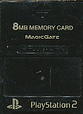 PS2 メモリーカード 8MB MAJICGATE製 NEW ブラック 中古 プレステ2 ショップ
