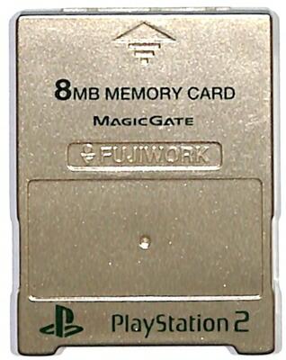 PS2 メモリーカード【8MB】 MAJICGATE製 (ゴールド)プレステ2【中古】