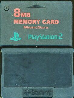 PS2 サミー製 メモリーカード(ブラック) 【8MB】【中古】プレイステーション2 プレステ2