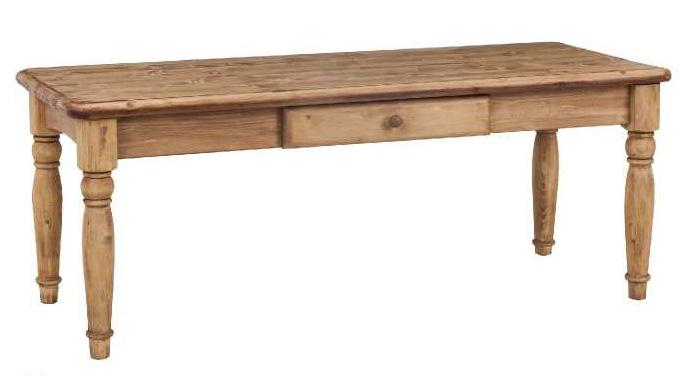 エクリール120 ソファテーブル カントリー調 パイン松 オイル仕上げ センターテーブル 机 収納引き出し付き 送料無料