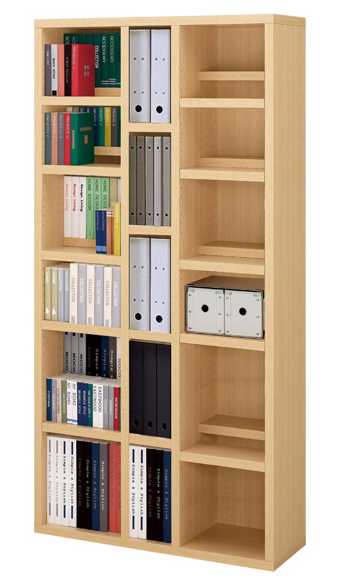 YCS YCA-91コミックシェルフ ツイン棚板シェルフ ナチュラルホワイト 本棚 書棚フナモコ 送料無料 日本製家具 完成品