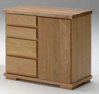 古彩ナチュラル 木目を生かしたリビングボード80 ニレ材 天然木無垢 ロータイプ 自然素材 カントリーシンプル 送料無料 オイル仕上げ 木製