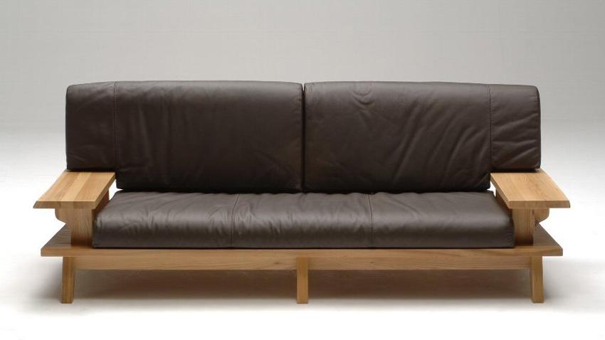 古彩ナチュラル本革 木目を生かした3Pトリプルソファ 肘付き椅子 ワイドクッション ニレ材 天然木無垢 ロータイプ 自然素材 カントリーシンプル 送料無料 完成品 オイル仕上げ 木製