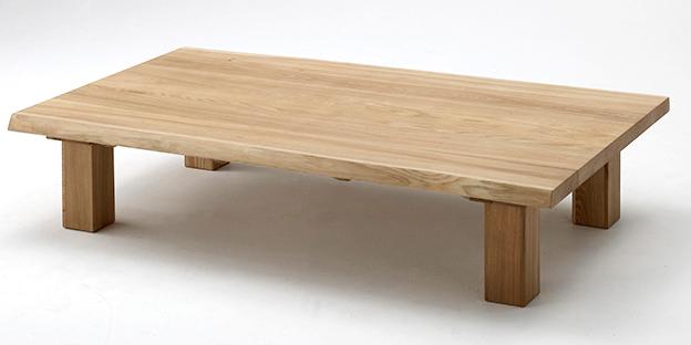 古彩ナチュラル 木目を生かした座卓150 ローテーブル ニレ材 天然木無垢 ロータイプ 自然素材 カントリーシンプル 送料無料 オイル仕上げ 木製