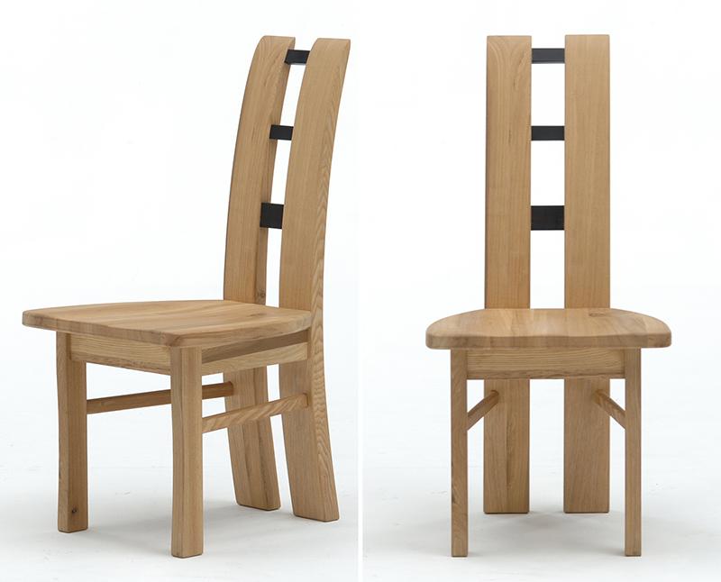 古彩C-100ナチュラル木目を生かしたダイニングチェア 食堂椅子 ハイバック ニレ材 天然木無垢 自然素材 カントリーシンプル 送料無料 完成品 オイル仕上げ 木製
