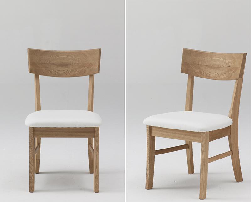 古彩C-300CUナチュラル木目を生かしたダイニングチェア 食堂椅子 ソフトレザー座面 ニレ材 天然木無垢 自然素材 カントリーシンプル 送料無料 完成品 オイル仕上げ 木製