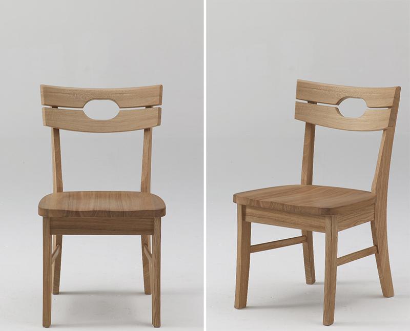 古彩C-400ナチュラル木目を生かしたダイニングチェア 食堂椅子 板座 ニレ材 天然木無垢 自然素材 カントリーシンプル 送料無料 完成品 オイル仕上げ 木製