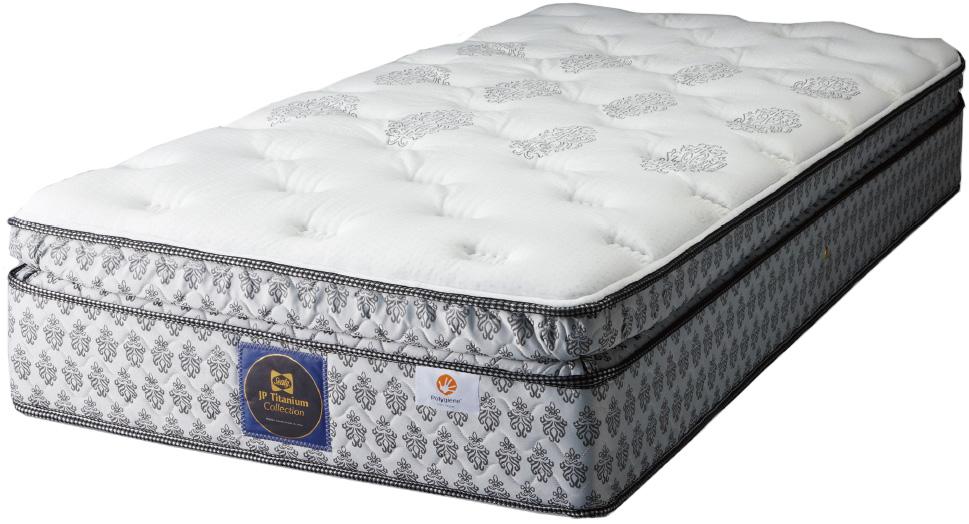 シーリーベッド sealy bed ロンド3 ダブルマットレス ピロートップ ソフト チタンコレクション 柔らかいクッション性 腰部サポート ポリジン加工 正規販売店 日本製 送料無料