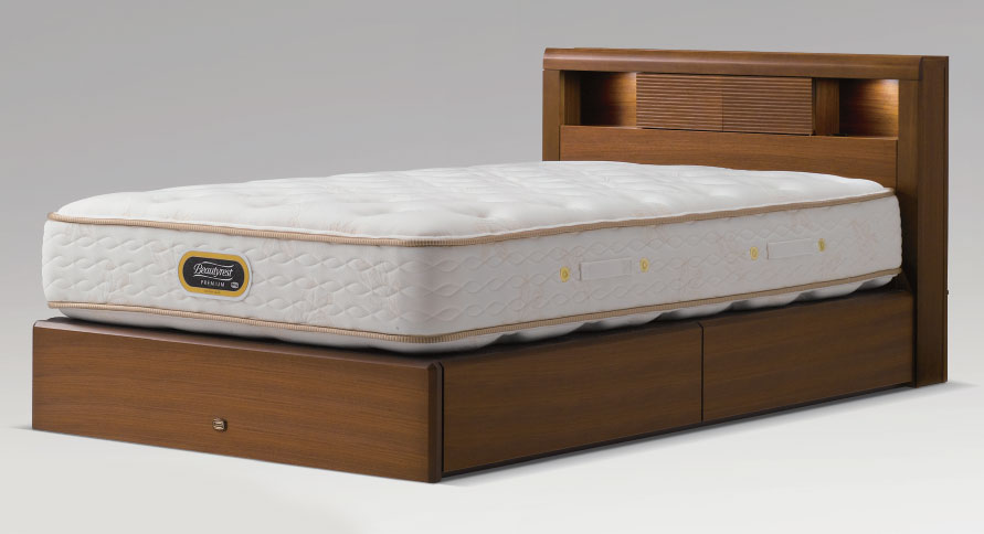 シモンズマットレス付きのベッドセット シモンズベッド アーグシェルフ2 クイーン ワイドダブル 引き出しタイプ ドロアー 未使用品 毎日続々入荷 コンサバティブシリーズ ダークブラウン マットレス付き 送料無料 simmons ベッド下収納 日本製