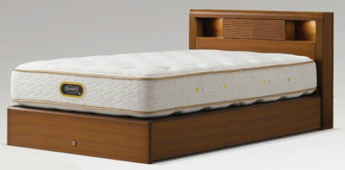 シモンズベッド アーグシェルフ2 シングル ノーマルタイプ 箱型 ダークブラウン simmons コンサバティブシリーズ 送料無料 日本製 マットレス付き