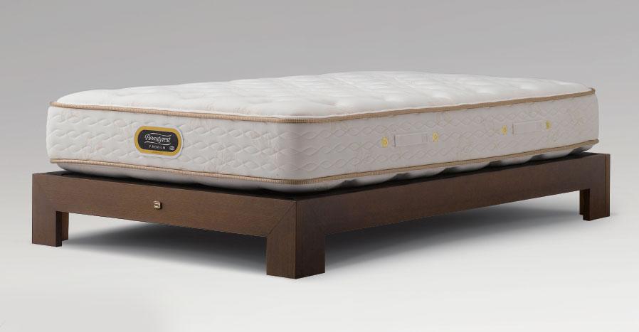 シモンズベッド メゾンフィーノ ダブル ヘッドレス レッグタイプ・脚付き シンプル 省スペース ダークブラウン simmons コンサバティブシリーズ 送料無料 日本製 マットレス付き