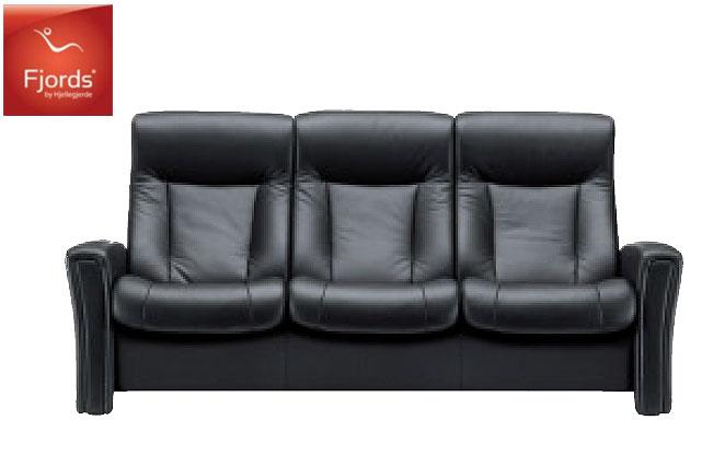フィヨルド アヴェンシス3Pソファ トリプルソファ本革チェア ハイバック椅子チェア 三人掛け シモンズベッド 送料無料 家具