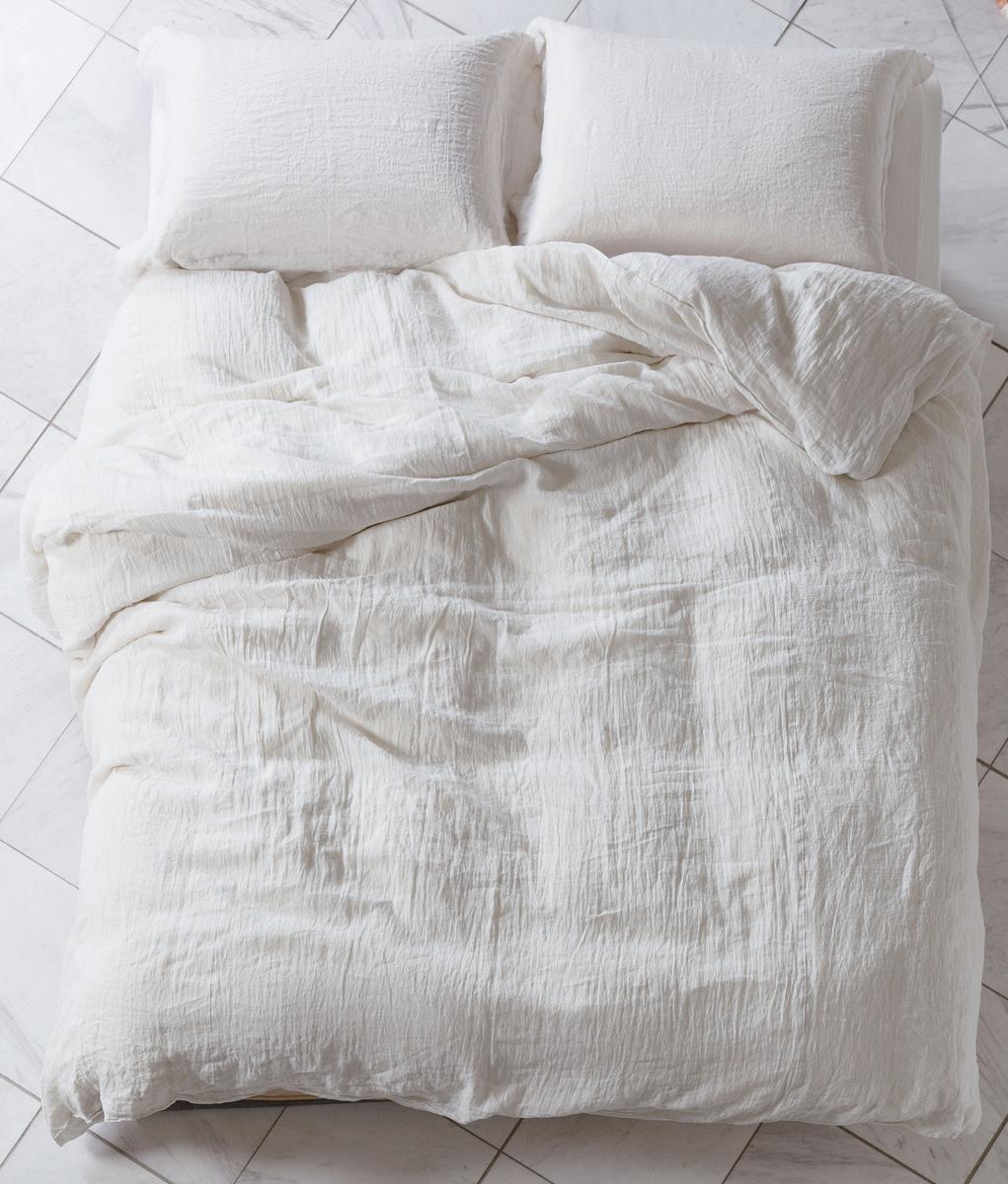 ドリームベッド グランリネン シングル ベッドシーツセット掛け布団カバー マットシーツ GL-607 ホワイト白 麻 コンフォーターケース・ピローケース・ボックスシーツセット 日本製寝装品 送料無料