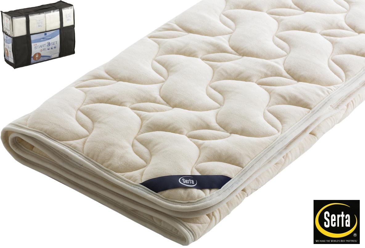 サータ PD150LX ラグジュアリーウールパッド クイーン1・ワイドダブル 羊毛ベッドパッド 洗える リバーシブル シーツ ベッドメーキングセット三点パック 寝装品 送料無料 日本製