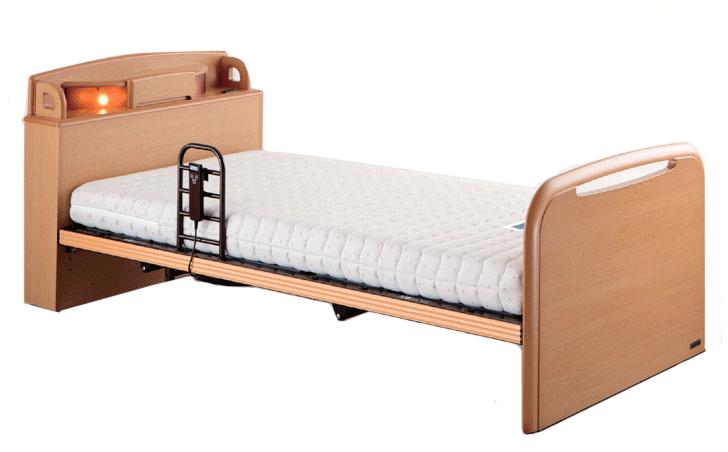 リラックスタイム144 2モーター シングル 電動ベッド リクライニングベッド 介護 フラット ドリームベッド 送料無料 在宅ケア自立支援