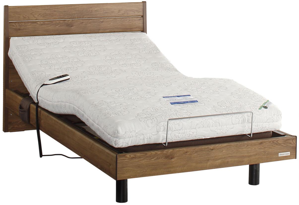 リラックスタイムFR0100 2モーター シングル 電動ベッド リクライニングベッド フラット 介護 ホワイト ダーク ドリームベッド 送料無料 在宅ケア自立支援