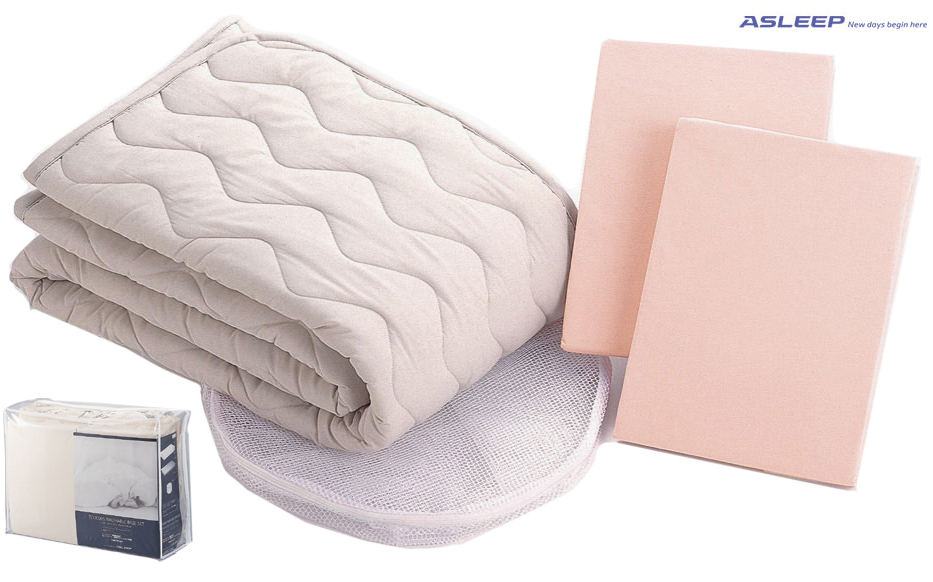 AISINアスリープ 洗える7カラーズウォッシャブルベースセット クイーンロング ベッドメーキング三点パック ベッドパッド&シーツ2枚セット 布団カバーセット マットレスカバー 寝具 送料無料