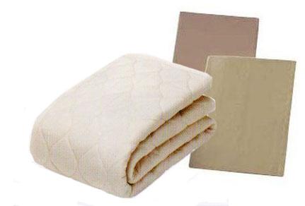 フランスベッド セミダブル グッドスリーププラス羊毛ベッドパッド 三点パック メーキングセット シーツ2枚セット 布団カバーセット マットレスカバー 寝装品 送料無料