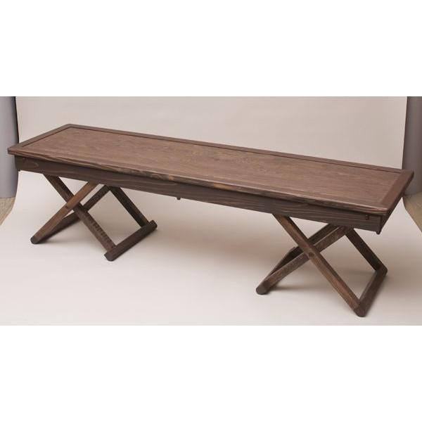 【楽納楽座】長椅子X型 145ベンチ ナチュラル 椅子 シンプル 送料無料 日本製