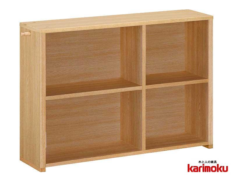 カリモク QS3585 100cm幅 書棚 本棚 背板付きシェルフ ブックボックス ナチュラル ブックシェルフスタンド ユーティリティプラス 送料無料 karimoku 日本製家具 正規取扱店