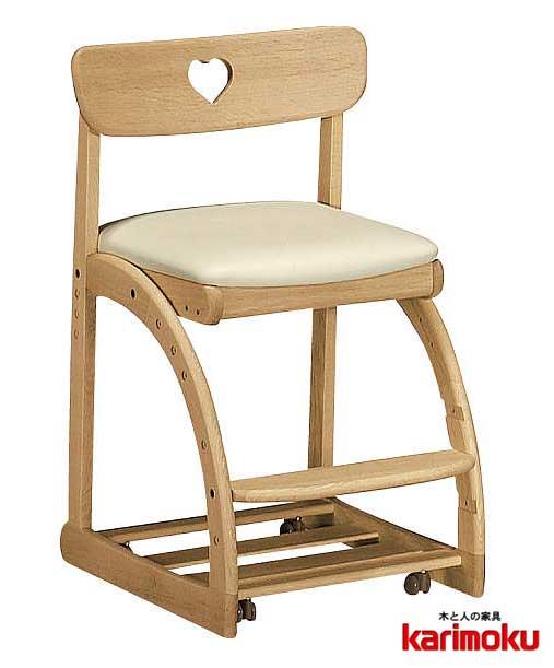 カリモクXT1801 子供用椅子 キッズチェア デスクチェア ステップアップ キャスター付き 足元収納 長く使える 合成皮革レザー 送料無料 日本製家具 正規取扱店 木製