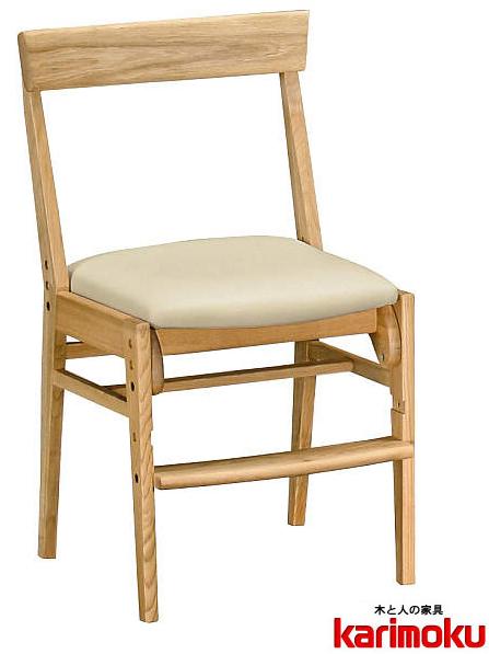 カリモク XT0611 子供用椅子 キッズチェア デスクチェア ステップアップ ダイニングチェアーとしても 長く使える 合成皮革 送料無料 karimoku 日本製家具 正規取扱店 木製