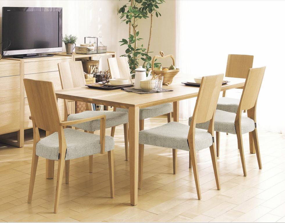 カリモクCU4510 DT8411 180サイズダイニング7点セット 食堂テーブル 食卓モダンセット ナチュラル調 合成皮革・布張り 送料無料 日本製家具 正規取扱店