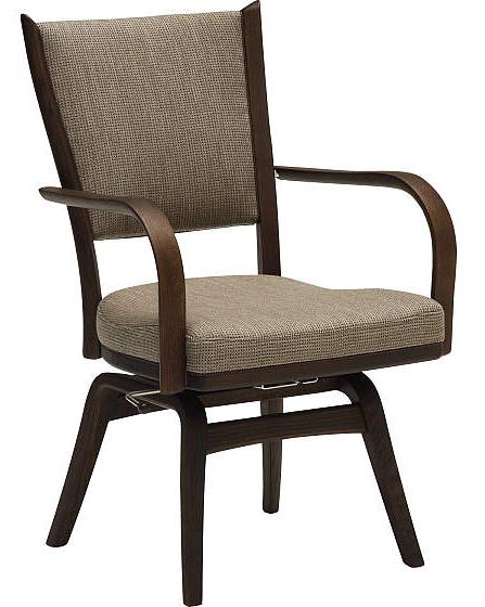 カリモクCT7354-1 食堂椅子 食卓椅子 ダイニングチェア 合成皮革・布張り 肘付椅子 座面回転椅子 送料無料 日本製家具 正規取扱店 木製 単品 バラ売り