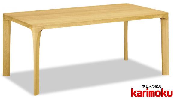 カリモク DD6230 180cmダイニングテーブル 食卓テーブル 配膳台 食事机 オーク材 楢材 ナラ 送料無料 karimoku 日本製家具 正規取扱店 テーブルのみ