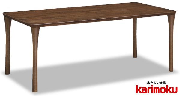 カリモク DT6480 180cmダイニングテーブル 食卓テーブル 配膳台 食事机 オーク材 楢材 ナラ 送料無料 karimoku 日本製家具 正規取扱店 テーブルのみ