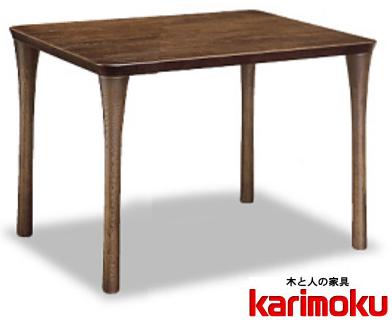 カリモク DT3480 90cmダイニングテーブル 食卓テーブル 配膳台 食事机 オーク材 楢材 ナラ 送料無料 karimoku 日本製家具 正規取扱店 テーブルのみ