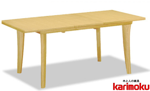 カリモクDT7473 200cm天板伸長式ダイニングテーブル 食卓テーブル 配膳台 食事机 オーク材 楢材 ナラ 送料無料 日本製家具 正規取扱店 テーブルのみ
