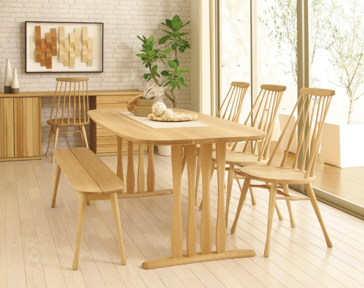 カリモクCF5005 DF5136 DF6202 食堂椅子 食卓セット ダイニング5点セット ウィンザーチェアー ナチュラル 北欧風 スリム 食卓テーブル 送料無料 日本製家具 正規取扱店