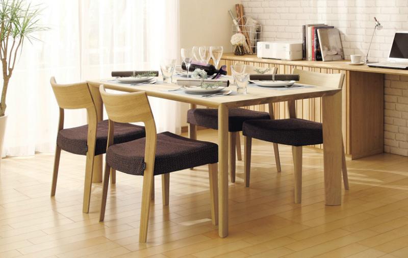 カリモクCU6105 CU6115ダイニング5点セット 食堂椅子 食卓椅子 ダイニングチェア 合成皮革・布張り 木製 オーク材 送料無料 日本製家具 正規取扱店