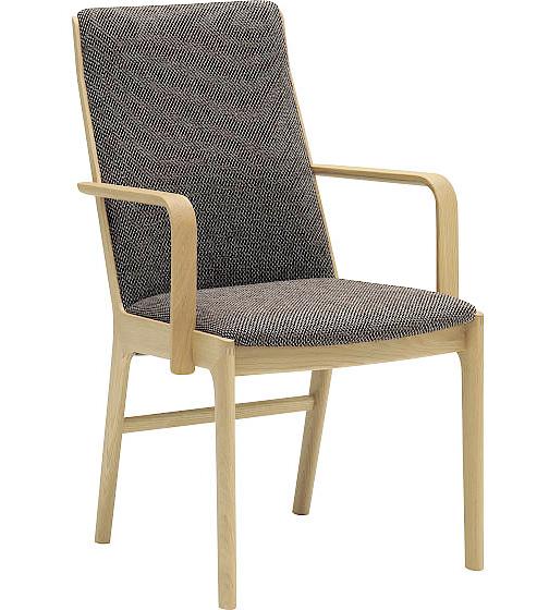 カリモク CU4130 食堂椅子 食卓椅子 ダイニングチェア 合成皮革・布張り 選べるカラー 肘付椅子 シンプル 送料無料 karimoku 日本製家具 正規取扱店 木製 単品 バラ売り