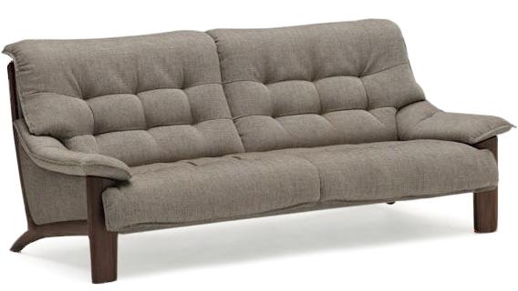 カリモク UU4903 3Pソファ 布張りファブリックソファ 肘掛ソファ トリプルチェア 3人掛け椅子ロングW2020 おすすめ おしゃれ 人気 karimoku 日本製家具 正規取扱店