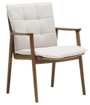 カリモクCW5500 食堂椅子 食卓椅子 ダイニングチェア 布張り・ファブリック 肘付き 送料無料 日本製家具 正規取扱店 木製 単品 バラ売り