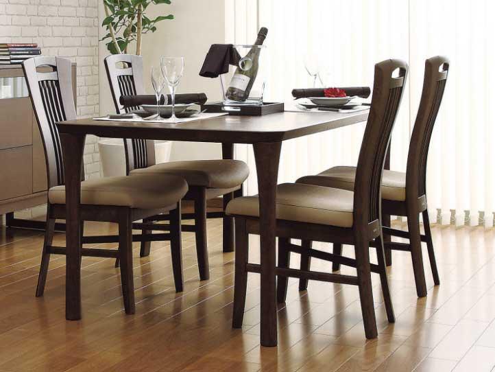 カリモク CD3425 DT5980 食堂椅子 食卓椅子 165サイズ ダイニング5点セット ハイバック 合成皮革張り 選べるカラー 食卓セット ダイニングテーブル ナチュラルモダン 送料無料 karimoku 日本製