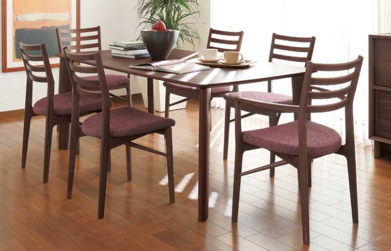 カリモク CW3900 CW3905 DW6300 食堂椅子 肘付き椅子 食卓テーブル ダイニング7点セット 6人掛け 合成皮革・布張り 選べるカラー 食卓セット モダン シャープ 背もたれ付き karimoku 日本製