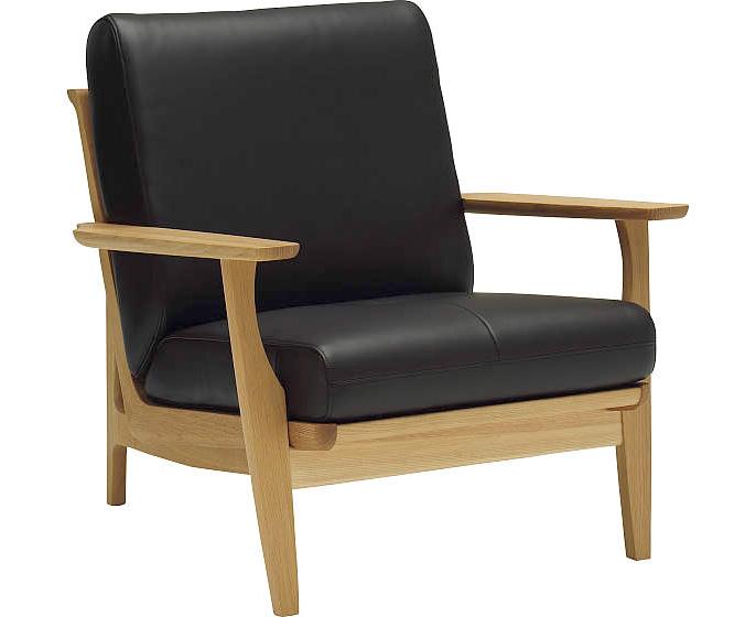カリモク WU6120 1Pソファ 本革張り 一人掛け椅子 木製肘掛ソファ レザー ブナ 選べるカラー おすすめ おしゃれ 人気 karimoku 日本製家具 正規取扱店