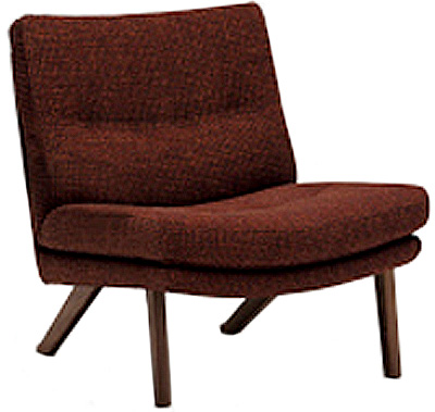 カリモクUU1605 1Pソファ 布張りファブリック 肘無しチェア パーソナルチェア 1人肘掛け椅子 ローバック コンパクト 送料無料 おすすめ おしゃれ 人気 日本製家具 正規取扱店