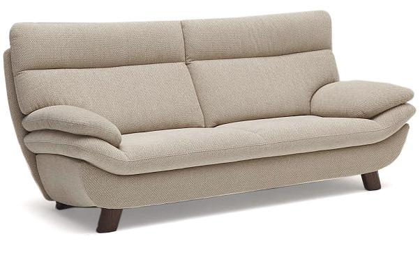 カリモク UT8303 三人掛け椅子 3P布張りソファ ファブリック 肘掛椅子 ハイバック ブラウン トリプルソファ おすすめ おしゃれ 人気 karimoku 日本製家具 正規取扱店